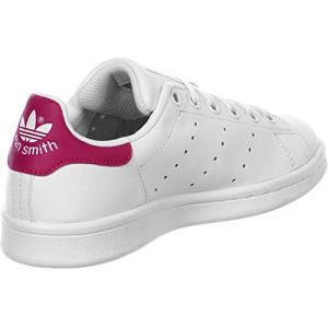 Adidas Stan Smith, Sneakers Basses Fille, Blanc (FTWR White/FTWR White/Bold Pink), 36 EU (UK Child 3 Enfant UK)