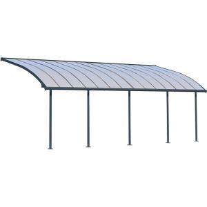 Palram Pergola Joya - Structure Aluminium et Toit Rigide - pour Couvrir Une Terrasse Toute L'année, Design Incurvé - Garantie 10 Ans