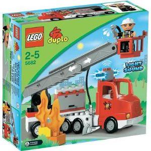 Duplo 5682 -  Ville : Le camion des pompiers avec l'échelle