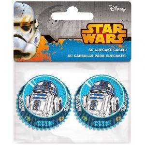 Image de 60 caissettes cupcakes Star Wars 4.5 cm