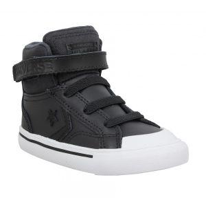 Converse Chaussures enfant Pro Blaze Strap Hi cuir Enfant Noir Noir - Taille 20,21,22,23,24,25,26