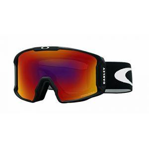 Oakley Line Miner Masque de Ski Mixte Adulte, Matte Black/Prizm Torch Iridium, 99