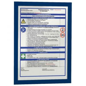 Durable Sachet de 2 cadres Duraframe A4 Bleu