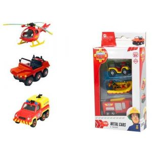 Dickie Toys Set de 3 véhicules Sam le Pompier