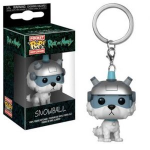 Funko Porte-clé Rick & Morty - Snowball Pocket Pop 4cm