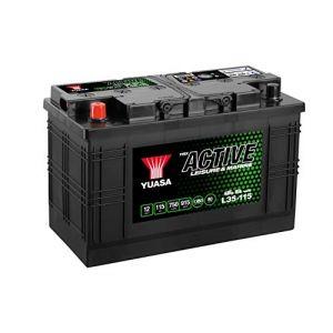 Yuasa Leisure Batterie pour Auto SUV 12V 115Ah 750A L35-115 12V 115Ah 750A Leisure Battery 350 x 174 x 224 mm + G