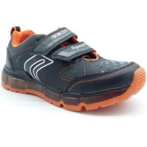 Geox J Android A, Sneakers Basses garçon, Noir (Black/Orange C0038), 29 EU