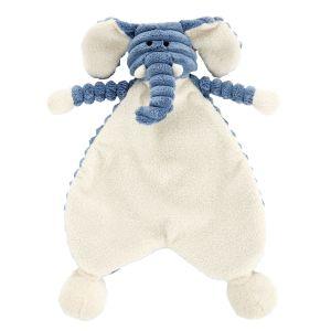 Jellycat Doudou plat little elephant cordy roy baby eléphant soother