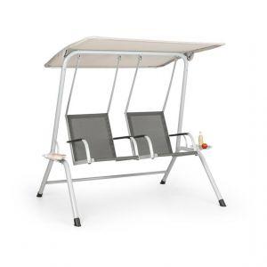 Blumfeldt Bel Air Duo Swing Balancelle de jardin pour 2 personnes - gris & crème
