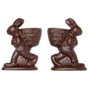 b23c131bd428 Moule Chocolat Lapin de Pâques avec Panier à Garnir