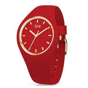 Ice Watch Ice-Watch - Ice Glam Colour Red - Montre Rouge pour Femme avec Bracelet en Silicone - 016264 (Medium)
