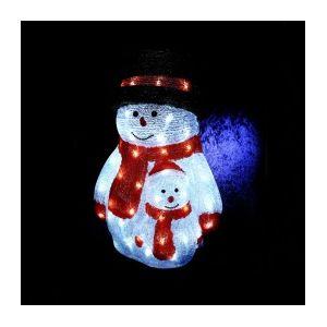 Compaire - Bonhomme de neige lumineux 40 LED