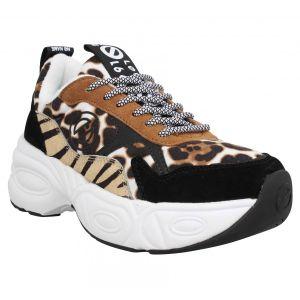 No Name Baskets Nitro Jogger cow suede Femme Leopard Multicolor - Taille 36,37,38,39,40