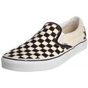 Vans U Classic Slip-on, Baskets mode mixte adulte - Blanc (Black & White/Checker White),42.5 EU