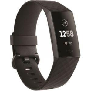 Fitbit Charge 3 - Bracelet d'activité Forme et Sport - Aluminium Graphite/Noir
