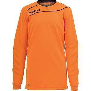 Uhlsport STREAM 3.0 GK avec renforts - Maillot de Gardien Football - Manches longues - Technologie Smartbreathe - orange/noir - FR : 2XL (Taille Fabricant : XXL)