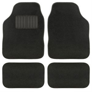 4 tapis de voiture universels moquette AQUARELLA noir