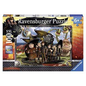 Ravensburger 10549 - Puzzle Enfant Classique - Dragons - Krokmou Et Ses Amis - 100 pièces XXL