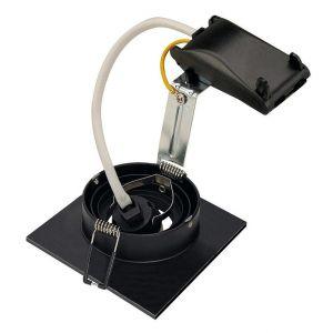 SLV Spot encastrable Ampoule halogène, LED GU10 113450 50 W noir (mat)