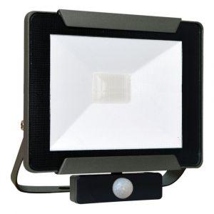 Tibelec Projecteur Extérieur LED Premium extraplat Infrarouge 30W 2280 Lumens noir