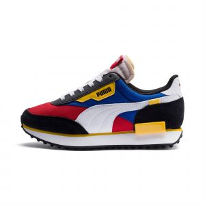 Puma Chaussure Basket Future Rider Play On Youth pour Enfant, Rouge/Bleu, Taille 36, Chaussures