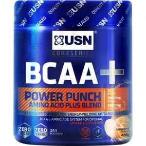 USN BCAA + Power Punch Saveur Mandarine 400g