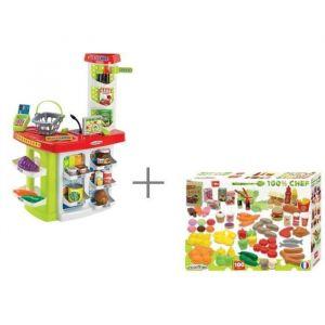 Ecoiffier Super Shop + 100 fruits & légumes 100% Chef