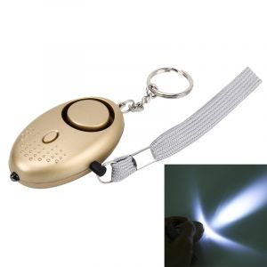 WeWoo Alarme sonore or pour fille et enfants, 125Db Mini Safe Buzzer personnelle forte avec Anti-Rape