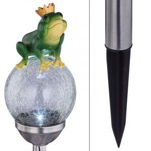 Globo Lampe sur piquet solaire LED 33085 Roi Grenouille