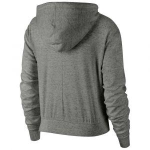 Nike W NSW Gym VNTG Hoodie FZ Sweat-Shirt Femme, DK Grey Heather/(sail), FR (Taille Fabricant : XS)