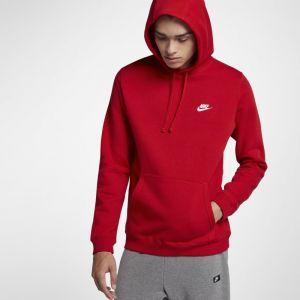 Nike Sweatà capuche Sportswear Club Fleece pour Homme - Rouge - Couleur Rouge - Taille XL