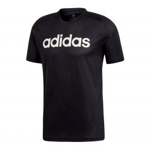 Adidas Tee-shirt Design2Move Climacool Logo noir Noir - Taille L
