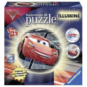 Ravensburger Cars 3 - Puzzle ball illuminé 72 pièces