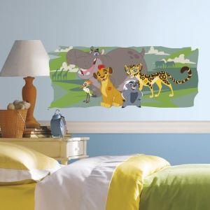 Room Studio DISNEY LE ROI LION Sticker Vinyle Repositionnable 40x98cm - LE ROI LION Sticker Vinyle Repositionnable - Produit assemblé : 40x98cm - Garçon et Fille - Livré à l'unité