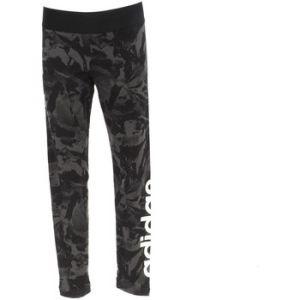 Adidas YG E AOP TIGHT - GRIS - fille - LEGGING