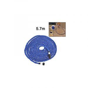 Yonis Tuyau d'arrosage 5.7 m extensible 15 mètres rétractable anti-nud bleu