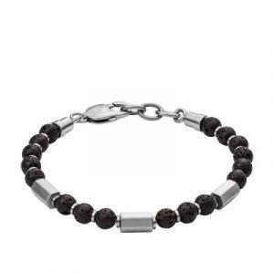 Fossil Bracelet Vintage Casual JF03007040 - Bracelet Acier Noir Homme