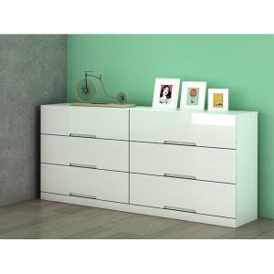 Commode 6 Tiroirs Blanc Comparer 343 Offres