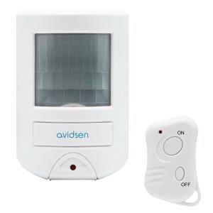 Avidsen 100104 - Mini alarme à détection de mouvement avec transmetteur téléphonique