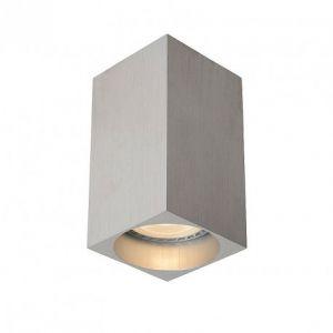 Lucide Plafonnier tube carré Delto LED H10 cm - Chrome