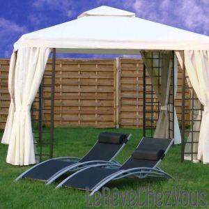 tonnelle avec rideaux comparer 164 offres. Black Bedroom Furniture Sets. Home Design Ideas
