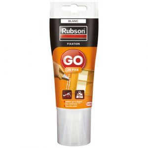 Rubson Mastic fixation Go Je fixe tube 50ml - Mastic de fixation blanc