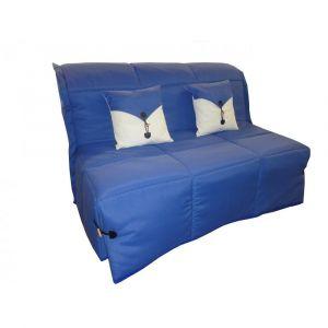 Inside75 Canapé BZ convertible SOAN bleu 160*200cm matelas confort BULTEX inclus