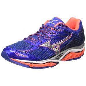 Mizuno Wave Enigma 6, Chaussures de Running Compétition Femme, Bleu-Blue (Dazzling Blue/Silver/Fiery Coral Viscotech), 38 EU