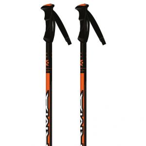 Kerma Bâton de ski Speed - 125 cm - Noir et orange