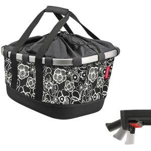 Klickfix Panier de porte bagage bikebasket gt uniklip fleurs noires