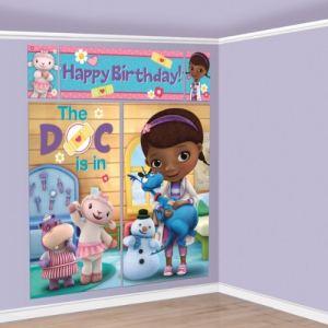 Décoration murale anniversaire Docteur la Peluche