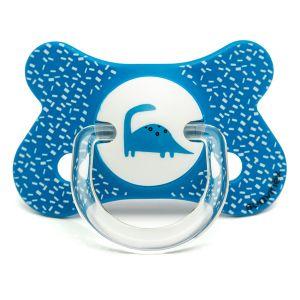 Suavinex Sucette Fusion silicone Total Look Dino 4-18 mois