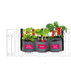 Kitchen gardening Pot de fleurs en tissu - Jardin suspendu potager - Pot de fleurs en tissu pour plante Jardin suspendu potager