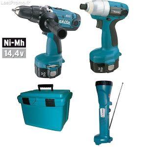 Makita MEU046 - Coffret outils sans fil 14,4V : 6339D + 6935FD + Ml141